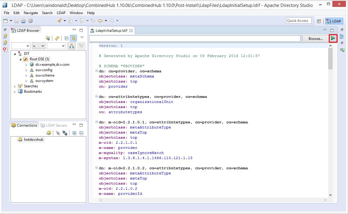 HotDocs Hub Admin Guide - Configure ApacheDS